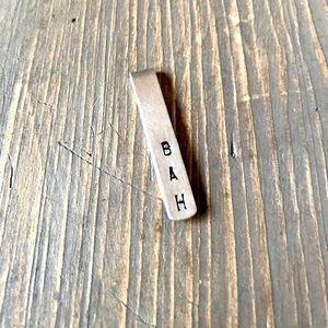 handmade Other - Hand stamped custom metal bookmark